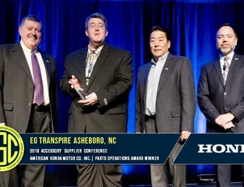 American Honda Bestows Accessory Performance Award to EG Transpire